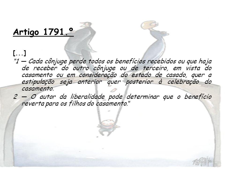 Artigo 1791.º[...]
